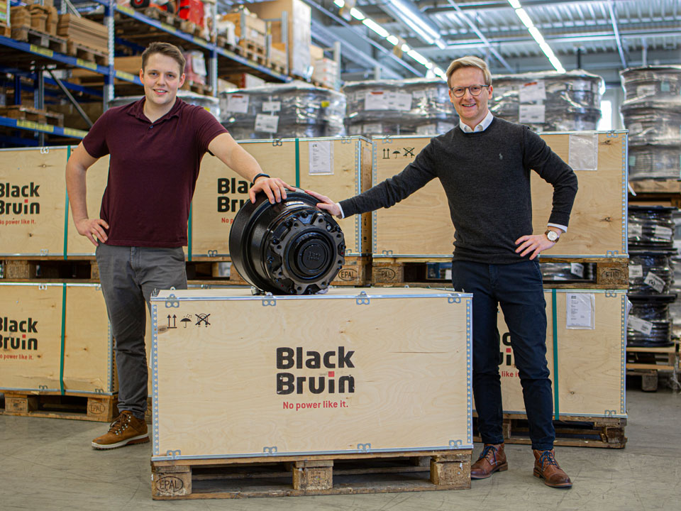 Image for Offering a better grip for special agricultural applications: Paul Forrer with Black Bruin
