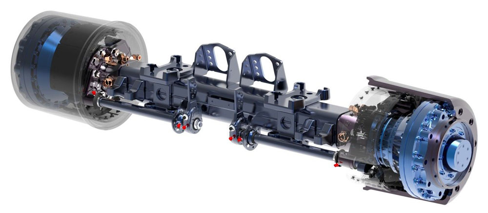 BPW AGRO Drive hydraulic drive axles take off with Black